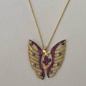 Jewelry - 😇🦋Angel wing butterfly evil eye silver necklace